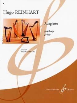 Adagietto - Hugo Reinhart - Partition - Harpe - laflutedepan.com