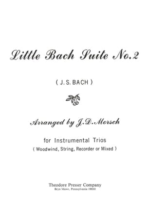Little Bach Suite n° 2 - Instrumentals trio - BACH - laflutedepan.com