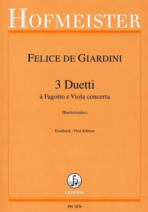 Felice de Giardini - 3 Duos - Basson et Alto - Partition - di-arezzo.fr