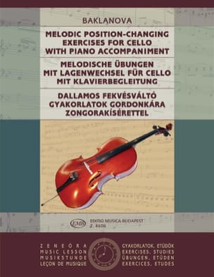 Natalja Baklanowa - Melodic Position-Changing exercises - Cello Piano - Partition - di-arezzo.fr