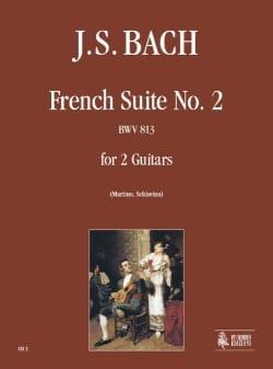 Suite francese II BWV 813 -2 Chitarre BACH Partition laflutedepan