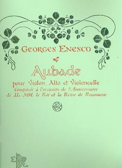 Georges Enesco - Aubade - Partition - di-arezzo.fr