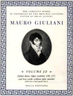 Mauro Giuliani - The Complete works for guitare – Volume 22 - Partition - di-arezzo.fr