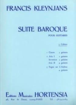 Suite baroque - 2ème cahier Francis Kleynjans Partition laflutedepan
