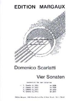 Sonata L. 140 -2 Gitarren Domenico Scarlatti Partition laflutedepan