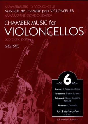 Chamber music for violoncellos - Volume 6 - Score + Parts laflutedepan