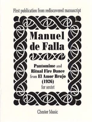 Manuel de Falla - Pantomime and Ritual Fire Dance - Score - Partition - di-arezzo.fr