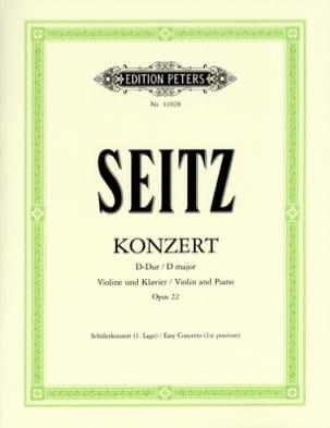 F. Seitz - Concerto En Ré Maj. Op.22 - Partition - di-arezzo.fr