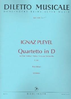 Quartetto in D-Dur B. 381 -Flöte Violine Viola Cello - Stimmen laflutedepan