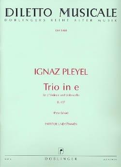 Trio e-moll B. 407 -2 Violinen Violoncello - Partitur + Stimmen laflutedepan