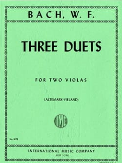 Wilhelm Friedemann Bach - Three Duets for two violas - Partition - di-arezzo.fr