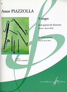 3 Tangos Astor Piazzolla Partition Clarinette - laflutedepan