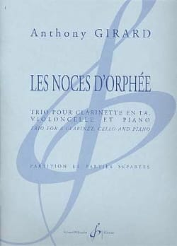 Les Noces d'Orphée - Anthony Girard - Partition - laflutedepan.com