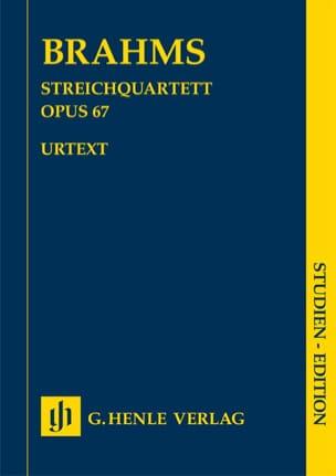 Quatuor à Cordes en Sib Majeur op. 67 BRAHMS Partition laflutedepan
