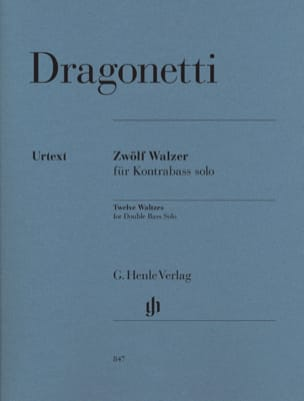 Domenico Dragonetti - 12 Waltzes for double bass only - Partition - di-arezzo.co.uk