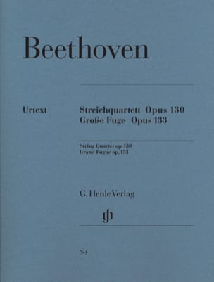 BEETHOVEN - String quartet in B flat major op. 130 - Great Fugue op. 133 - Sheet Music - di-arezzo.co.uk