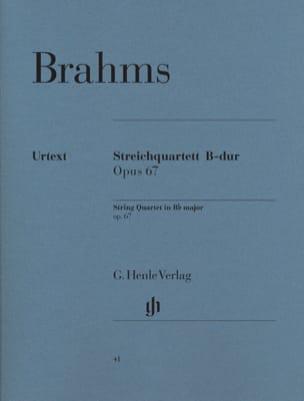 Quatuor à cordes en Si bémol majeur op. 67 BRAHMS laflutedepan