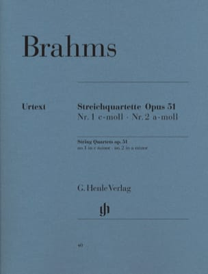 BRAHMS - String Quartets N ° 1 and N ° 2 - Sheet Music - di-arezzo.com
