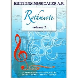 - Rythmnote Volume 2 - CD for download - Sheet Music - di-arezzo.co.uk