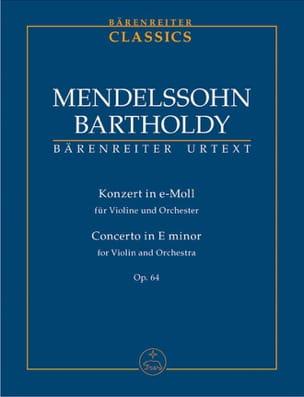 MENDELSSOHN - Opus 64 Minor E Concerto - Sheet Music - di-arezzo.co.uk