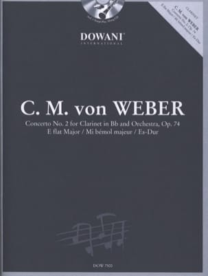 Carl Maria von Weber - Concerto pour clarinette n° 2 op. 74 en mib maj. - Partition - di-arezzo.fr