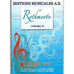 - Rythmnote Volume 6 - CD en téléchargement - Partition - di-arezzo.fr
