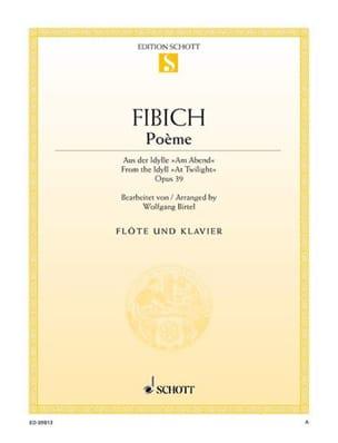 Poème Op.39 - Zdenko Fibich - Partition - laflutedepan.com