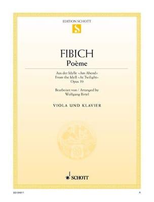 Zdenko Fibich - Poème op. 39 — Alto piano - Partition - di-arezzo.fr