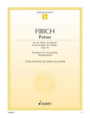 Zdenko Fibich - Poème Op.39 - Partition - di-arezzo.fr