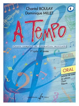 Chantal BOULAY et Dominique MILLET - A Tempo Volume 4 - Oral - Partition - di-arezzo.fr