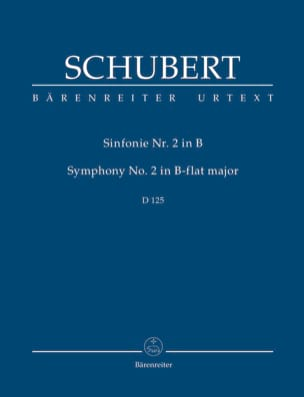 Franz Schubert - Symphonie N° 2, D 125 - Partition - di-arezzo.fr