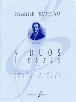 3 Duos Op. 80 - Friedrich Kuhlau - Partition - laflutedepan.com