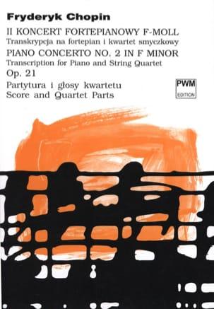 Frédéric Chopin - Concerto N°2 Opus 21 - Quintette - Partition - di-arezzo.fr