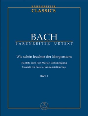 BACH - Cantate BWV 1 - Sheet Music - di-arezzo.co.uk