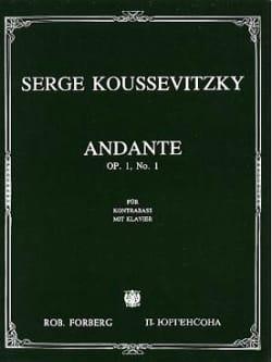 Andante - Serge Koussevitzky - Partition - laflutedepan.com