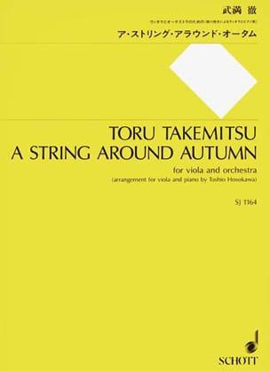 Toru Takemitsu - A String Around Autumn - Partition - di-arezzo.fr