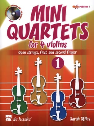 Sarah Stiles - Mini-Quartets For 4 Violins Volume 1 - Sheet Music - di-arezzo.co.uk