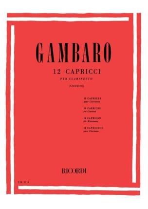 Giovani-Baptiste Gambaro - 12 Caprichos - Partitura - di-arezzo.es