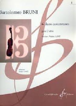 6 Duos Concertants Vol 2 - Antonio Bartolomeo Bruni - laflutedepan.com