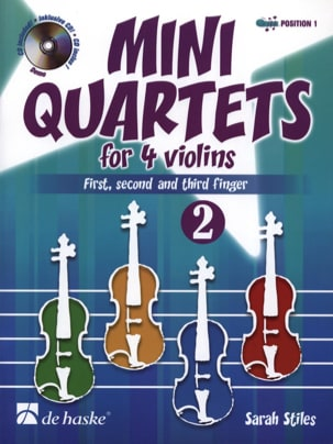 Mini Quartets For 4 Violins Vol.2 Sarah Stiles Partition laflutedepan