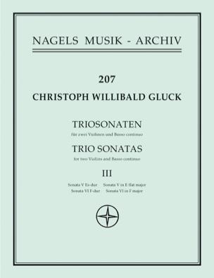 Christoph Willibald Gluck - Sonates en trio n° 5 & 6 pour2 Violons et BC - Partition - di-arezzo.fr