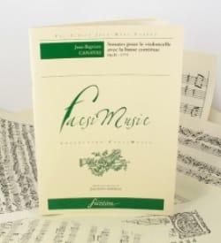 Jean-Baptiste Canavas - Sonates Pour le Violoncelle Avec la Basse Continue Op.11 - Partition - di-arezzo.fr