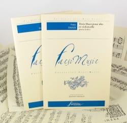 Franz Danzi - 3 Duos Pour Alto et Violoncelle - Partition - di-arezzo.fr