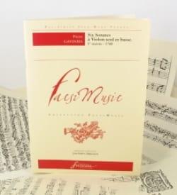 6 Sonates à violon seul et basse - Pierre Gaviniès - laflutedepan.com