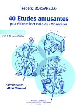 40 Etudes Amusantes Vol.4 Frédéric Borsarello Partition laflutedepan