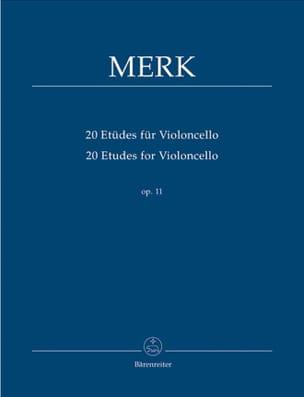 Joseph Merk - 20 Studies For Cello Op. 11 - Sheet Music - di-arezzo.com