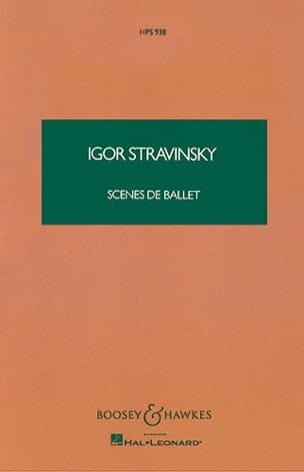 Igor Stravinsky - Scènes de Ballet - Partition - di-arezzo.fr