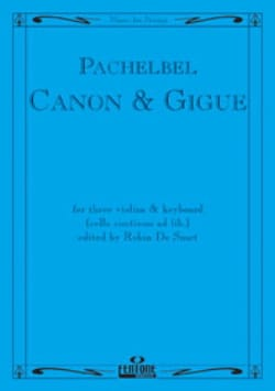 Canon and Gigue - 3 Violins piano PACHELBEL Partition laflutedepan