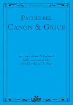 Canon and Gigue -3 Violins piano - PACHELBEL - laflutedepan.com