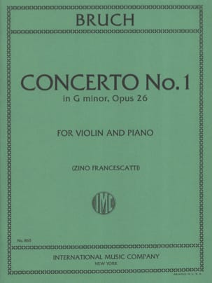 Max Bruch - Concerto Nr. 1 Minor Floor Op.26 - Partition - di-arezzo.de